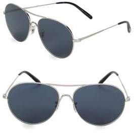 Oliver Peoples Rockmore 58MM Browline Aviator Sunglasses