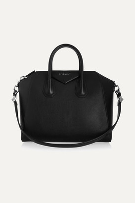 Givenchy Medium Antigona Bag In Black Leather - one size