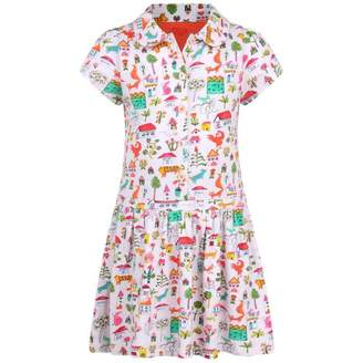 Oilily OililyGirls Pink Countryside Print Twiny Dress