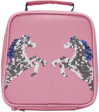 Joules Munch Bag Girls Lunch Bag - Pink Sequin Horse