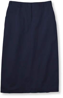L.L. Bean (エルエルビーン) - ジャパン・フィット リンクル・フリー(形態安定)・ベイサイド・ツイル・ロング・スカート、オリジナル・フィット ヒドゥン・コンフォート・ウエスト