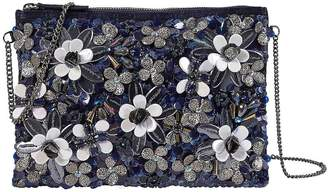 Kaleidoscope Flower Applique Clutch Bag