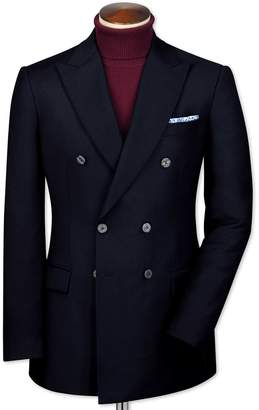 Slim Fit Navy Double Breasted Wool Perfect Wool Blazer Size 38 by Charles Tyrwhitt