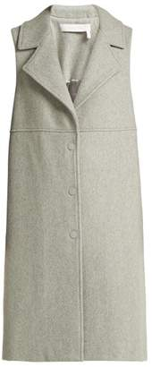 See by Chloe City Wool Blend Sleeveless Coat - Womens - Light Grey