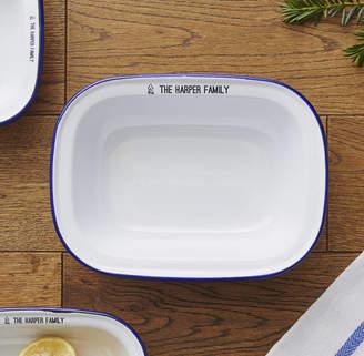 Sophia Victoria Joy Personalised Family Enamel Pie Dish