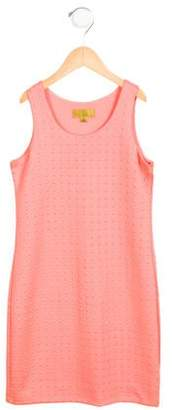 Nicole Miller Girls' Textured Sleeveless Dress