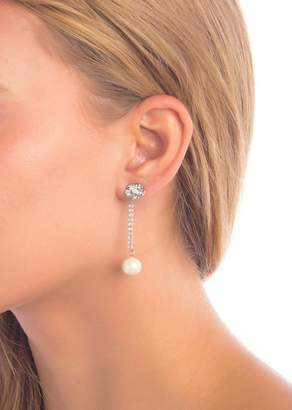 Carolee Crystal & Imitation Pearl Jacket Drop Earrings