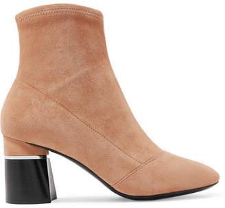 3.1 Phillip Lim Drum Suede Ankle Boots - Beige