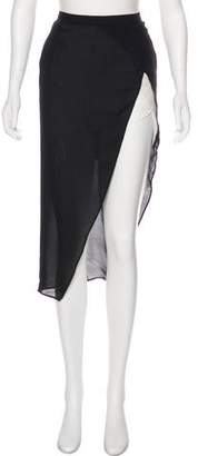Mason Silk Asymmetrical Mini Skirt w/ Tags
