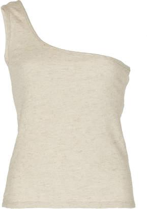 ALBUS LUMEN Cold-Shoulder Cotton-Blend Top Size: 6