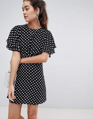 New Look spot dobby tea dress