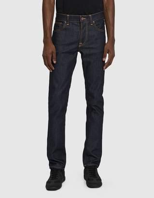 Nudie Jeans Grim Tim Dry Open Navy Denim Jean