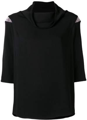 Fabiana Filippi foldover neck blouse