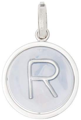 Burberry Marbled Resin 'R' Alphabet Charm