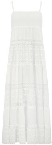 Dorothy Perkins White textured maxi dress