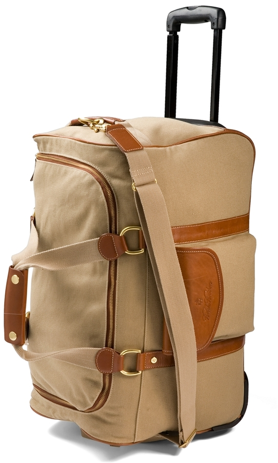 Brooks Brothers Canvas Leather Trolley