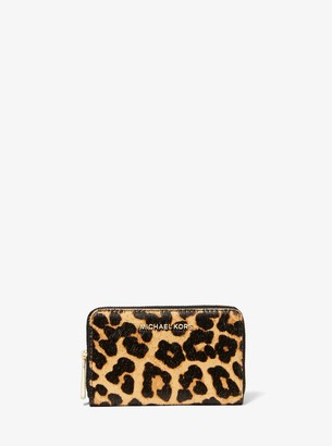 MICHAEL Michael Kors Small Leopard-Print Calf Hair Wallet