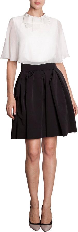 Lanvin Godet Skirt