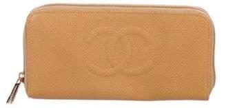 Chanel Caviar Timeless Zip Wallet