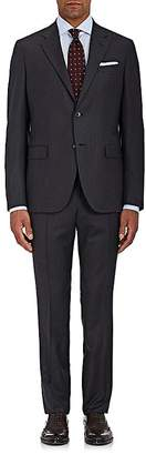 Barneys New York MEN'S HERRINGBONE-WEAVE WOOL TWO-BUTTON SUIT
