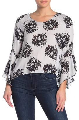 ASTR the Label Floral Bell Sleeve Blouse