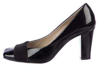 Ellen Tracy Patent Leather Square-Toe Pumps