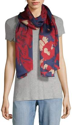 Vince Camuto Women's Shatter Floral Silk Scarf