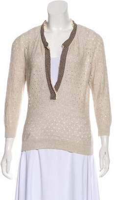 Valentino Linen-Blend Top