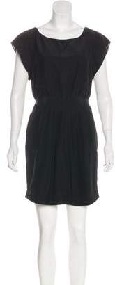 Of Two Minds Silk Short Sleeve Dress