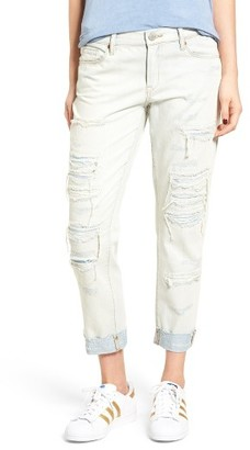 Women's Blanknyc Destroyed Girlfriend Jeans $108 thestylecure.com