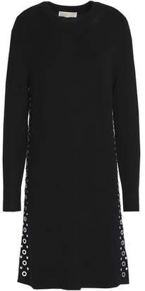 MICHAEL Michael Kors Embellished Stretch-Knit Mini Dress