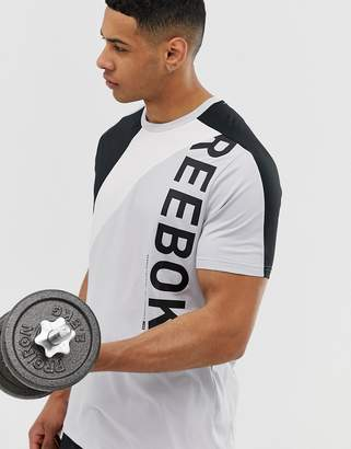 Reebok one series colour block t-shirt in grey