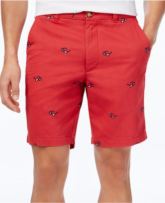 "Club Room Men's Embroidered Sunglasses Cotton 9"" Shorts, Created for Macy's $49.50 thestylecure.com"