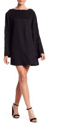 KENDALL + KYLIE Kendall & Kylie Long Sleeve Grommet Lace-Up Dress