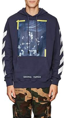 "Off-White MEN'S ""SEEING THINGS"" CARAVAGGIO-PRINT COTTON HOODIE"
