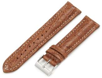 Artisan of Italy CITS200-0320MR Men's Active Sport Padded Matte Crocodile 20mm Tan Watch Strap