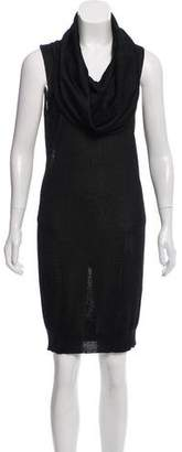Halston Cowl Neck Sleeveless Dress