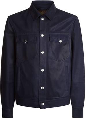 Brunello Cucinelli Leather Overshirt