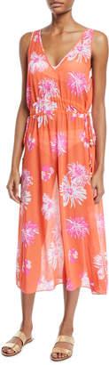 Ramy Brook Aleena Floral-Print Sleeveless Midi Dress