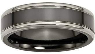 Primal Steel Titanium Black Ti Two-tone 6.5mm Polished Band