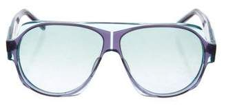 Christian Roth Aviator Tinted Sunglasses
