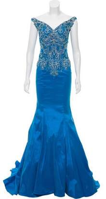 Mac Duggal Embellished Trumpet Gown w/ Tags