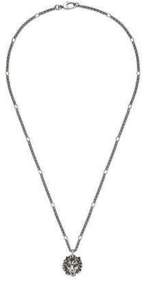 Gucci (グッチ) - ライオンヘッド ペンダント付き ネックレス