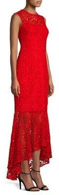 Shoshanna Lydia Lace Flounce Maxi Dress