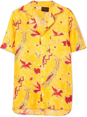 Loewe Paula's Ibiza Printed Linen Shirt - Yellow
