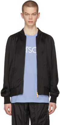 Versace Black Beaded Medusa Bomber Jacket