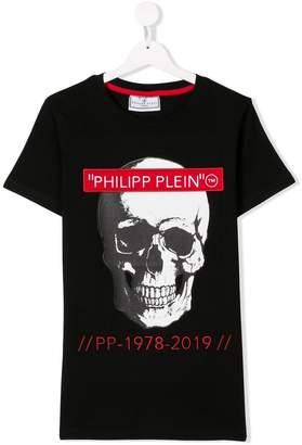 Philipp Plein Junior TEEN skull print T-shirt