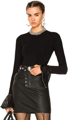 Alexander Wang Long Sleeve Crew Neck Pullover Sweater