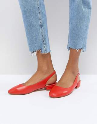 Faith Amelia Red Sling Back Ballet Shoes