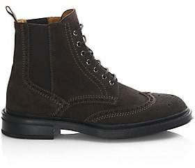 b7c073a0743 Aquatalia Women s Lawrence Suede Wingtip Boots